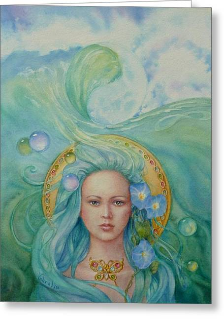 Under The Waves Greeting Card by Victoria Lisi