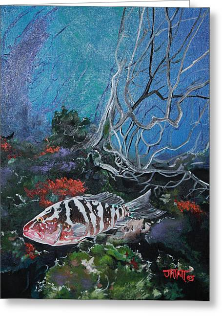 Fishscape Greeting Cards - Under Water Adventure Greeting Card by Justin Hiatt