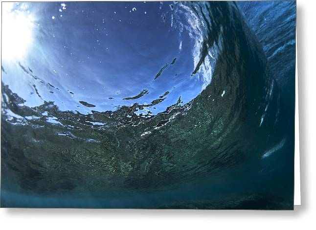 Under Water Tube  -  Part 1 Of 3 Greeting Card by Sean Davey