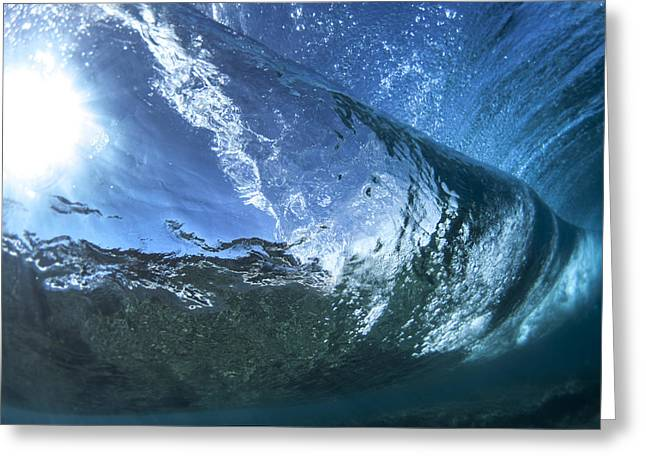 Under Water Tube  -  Part 2 Of 3 Greeting Card by Sean Davey