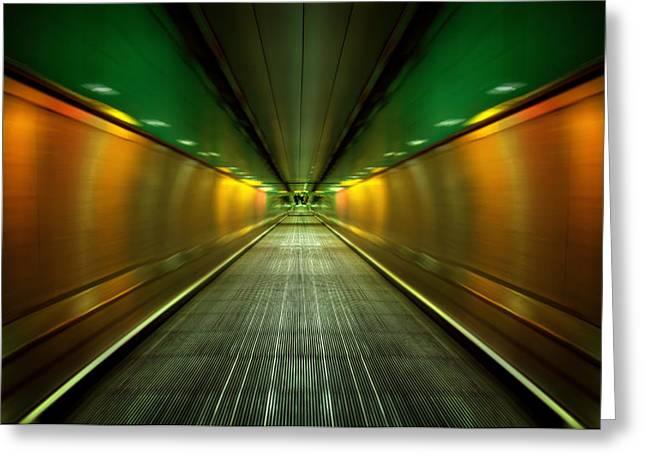 Underground Heathrow Greeting Card by Svetlana Sewell