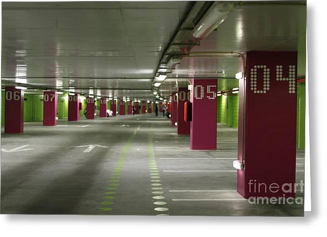 Underground Parking Lot Greeting Card by Gaspar Avila
