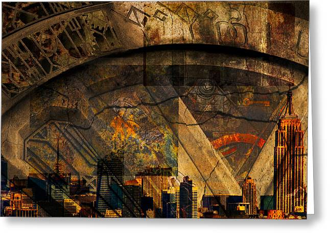 City Art Greeting Cards - Underneath Greeting Card by Rick Baker