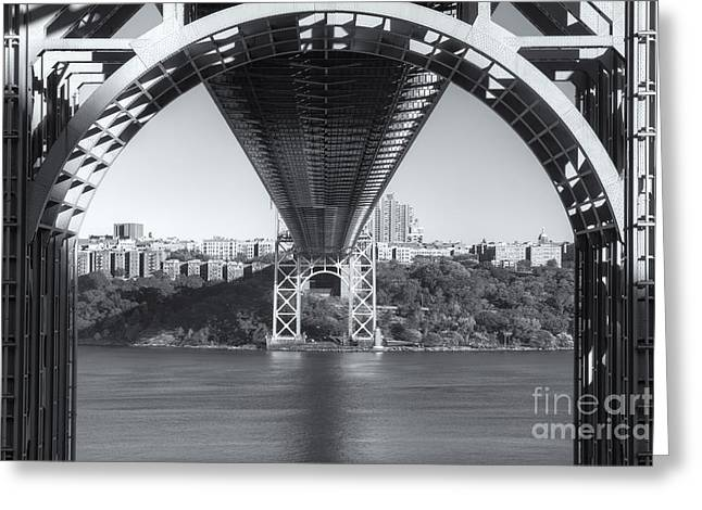 S-hooks Greeting Cards - Underneath the George Washington Bridge III Greeting Card by Clarence Holmes