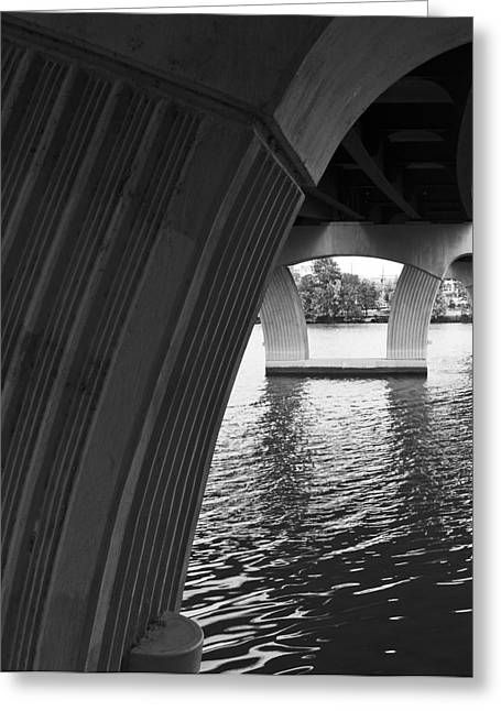 Underneath Yet Above Greeting Card by James Granberry