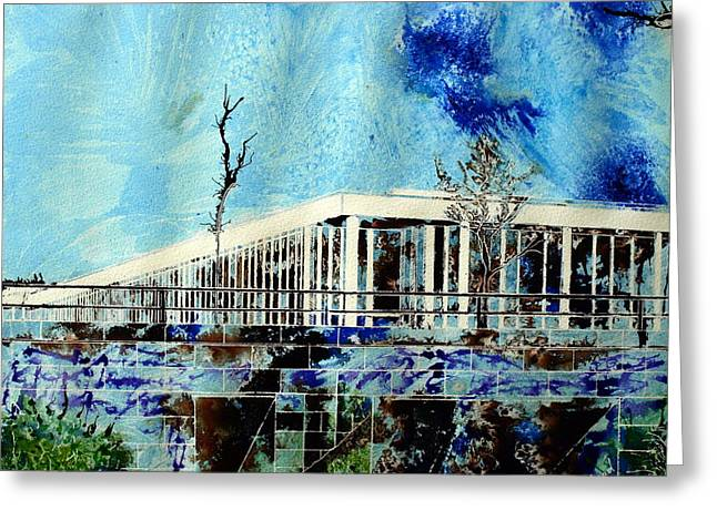Milton Keynes Greeting Cards - Underpass Greeting Card by Cathy S R Read