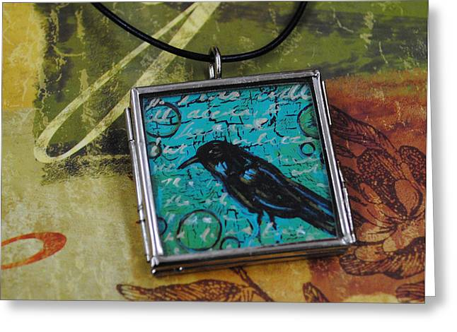 Acrylic Art Jewelry Greeting Cards - Understanding Greeting Card by Dana Marie