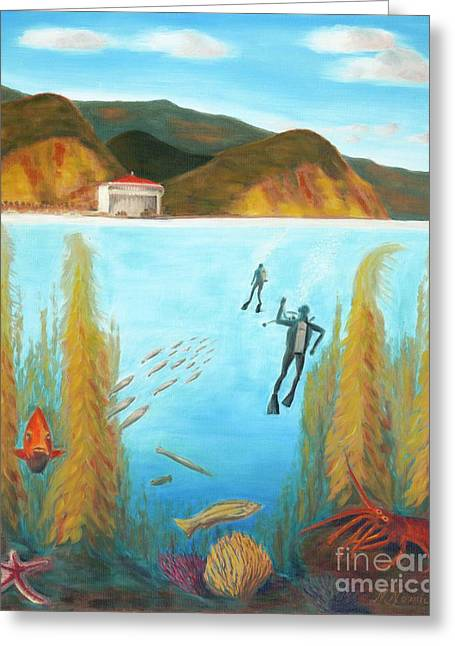 Underwater Catalina Greeting Card by Nicolas Nomicos