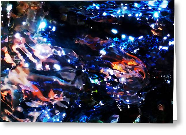 Water Flowing Mixed Media Greeting Cards - Underwater Chariots Of Fire Greeting Card by Terril Heilman