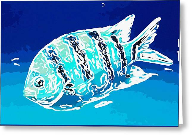 Tropical Greeting Cards - Underwater fish 4 Greeting Card by Lanjee Chee