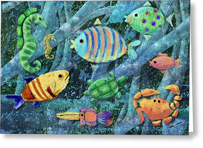Underwater Maze Greeting Card by Arline Wagner