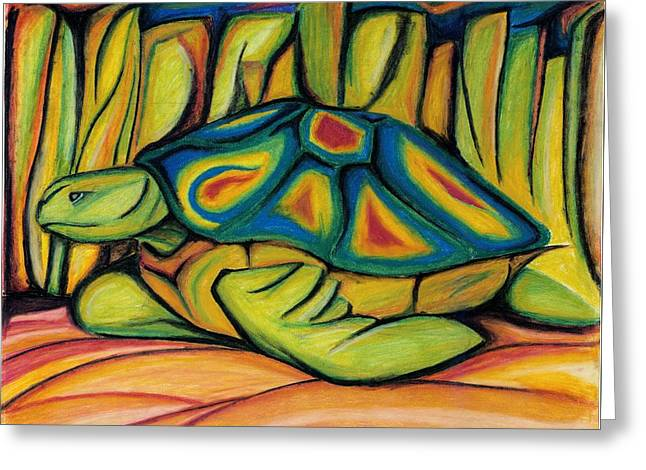 Fantasy Creatures Pastels Greeting Cards - Underwater Turtle Greeting Card by Catilin Ott