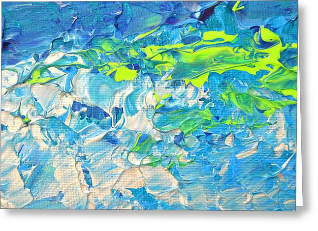 Flowing Wells Greeting Cards - Underwater Wave Greeting Card by Adriana Dziuba