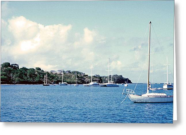 Sailboats In Harbor Greeting Cards - Underway Soon Greeting Card by Charles Yates