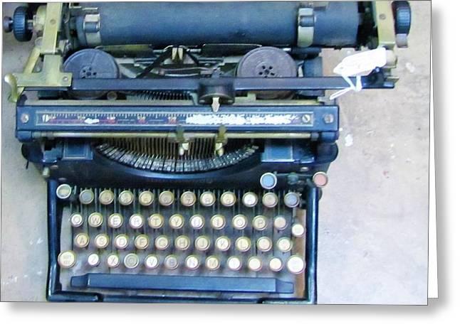 Manual Greeting Cards - Underwood Typewriter Greeting Card by Nancy  Hopkins