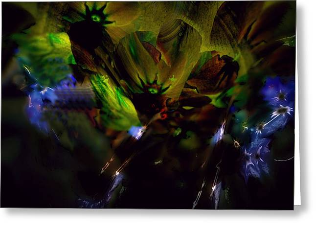 Abstract Expressionist Greeting Cards - Underworld - Cavern of the Cyclops Greeting Card by Richard Thomas
