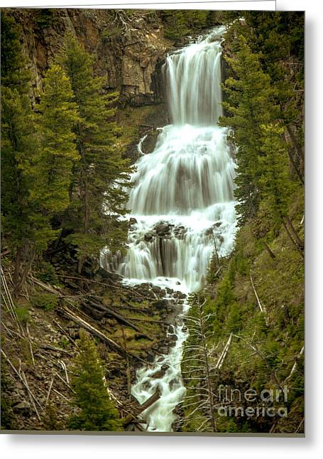 Plunging Greeting Cards - Undine Falls Greeting Card by Robert Bales