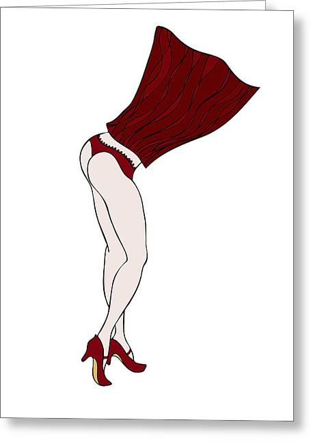 Knickers Greeting Cards - Undressing Greeting Card by Frank Tschakert
