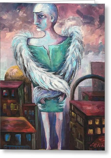 Elisheva Nesis Greeting Cards - Unemployed Angel Greeting Card by Elisheva Nesis