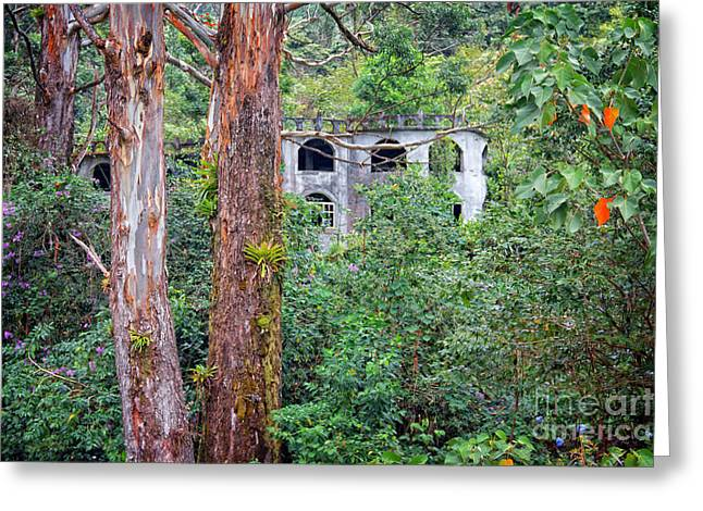 Mystical Landscape Greeting Cards - Unfinished Dreams aka Ghost Castle Greeting Card by Bob Hislop
