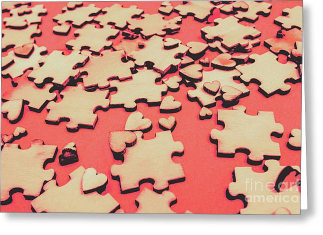 Unfinished Hearts Greeting Card by Jorgo Photography - Wall Art Gallery