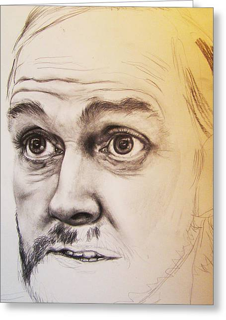 British Celebrities Greeting Cards - Unfinished John Cleese Greeting Card by Serenity Baumer