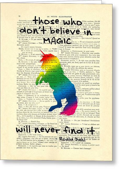 Unicorn Rainbow - Magical Quote Greeting Card by Madame Memento