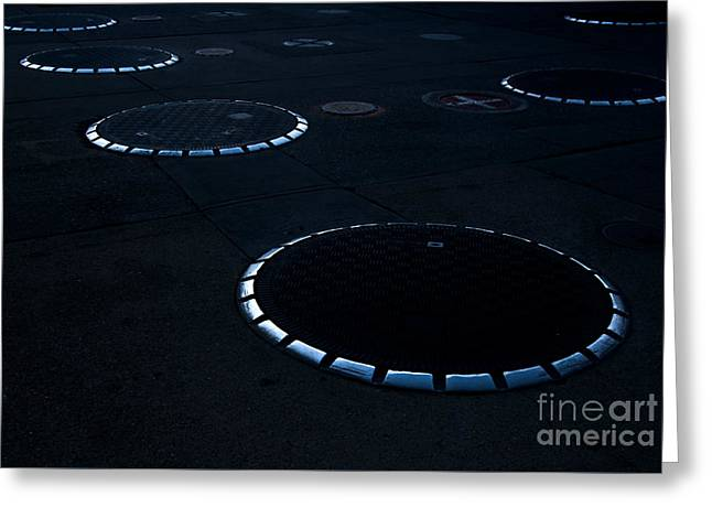 Abstractions Greeting Cards - Unidentifed Fuel Objects - Monochrome Greeting Card by James Aiken