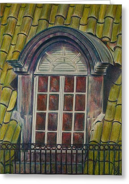 Tn Drawings Greeting Cards - Union Avenue Firehouse Greeting Card by Lois Guthridge