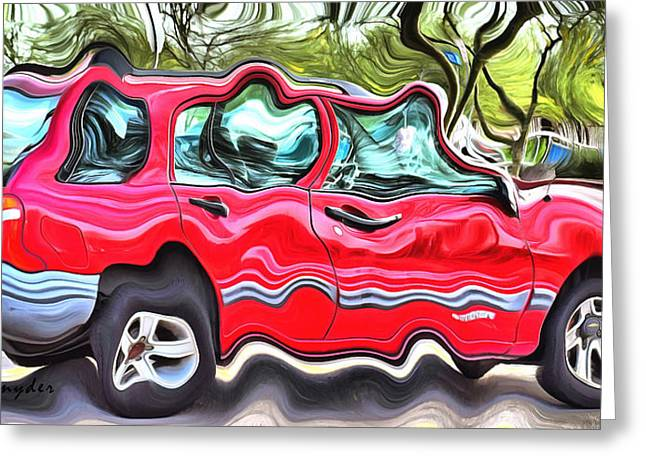 Station Wagon Paintings Greeting Cards - Union Built at GM Government Motors Greeting Card by Floyd Snyder