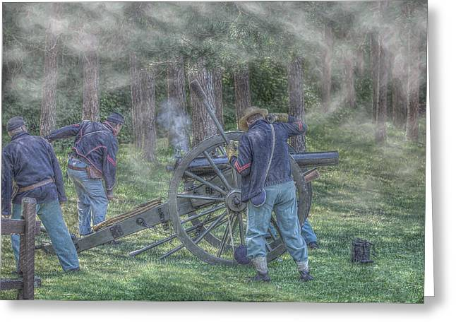 Union Civil War Cannon Greeting Card by Randy Steele