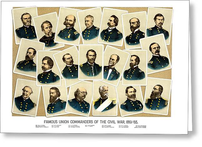 Civil War History Greeting Cards - Union Commanders of The Civil War Greeting Card by War Is Hell Store