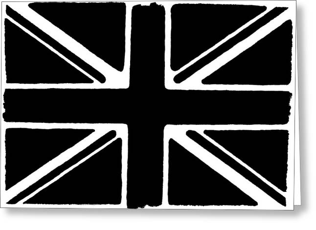Union Square Mixed Media Greeting Cards - Union Flag Greeting Card by Christopher Rowlands
