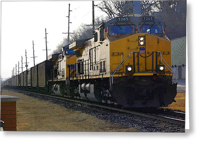 Jame Hayes Greeting Cards - Union Pacific 7265 Greeting Card by Jame Hayes