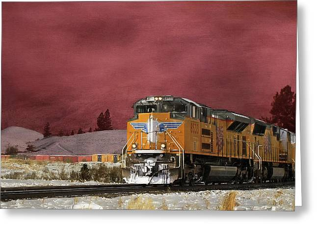 Union Pacific 8533 Greeting Card by Donna Kennedy