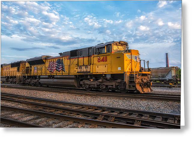 Electric Fan Greeting Cards - Union Pacific Railroad Greeting Card by Mark Papke