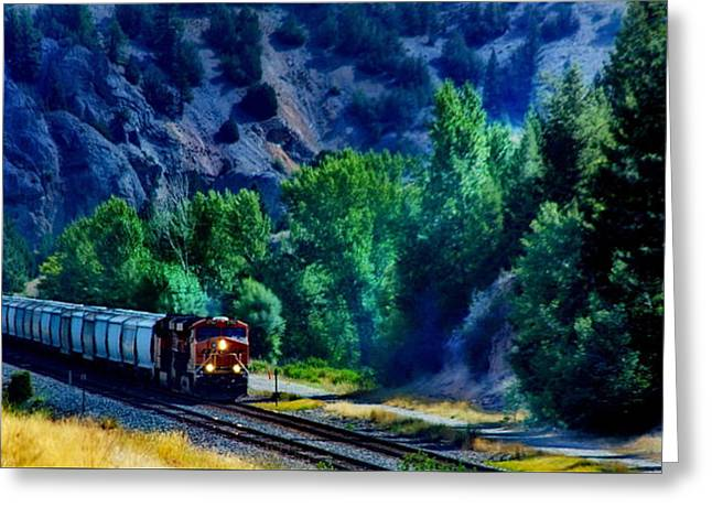 South Congress Greeting Cards - Union Pacific - South Dakota Greeting Card by Russ Harris