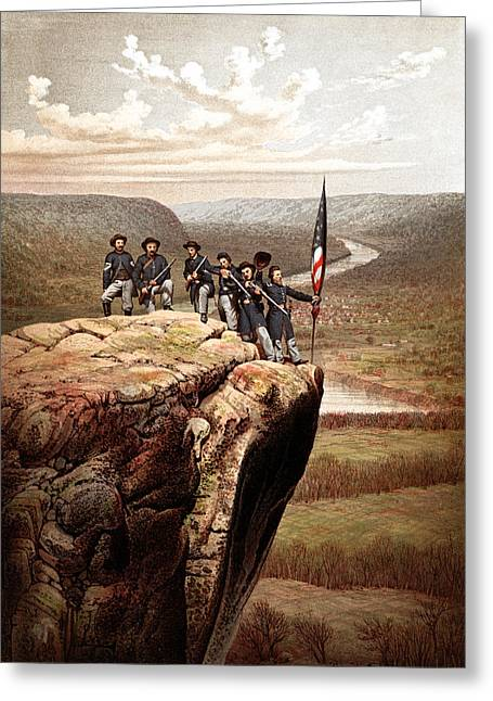 Us Civil War Greeting Cards - Union Soldiers On Lookout Mountain Greeting Card by War Is Hell Store