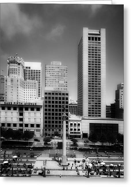 Union Square In San Francisco Greeting Card by Mountain Dreams