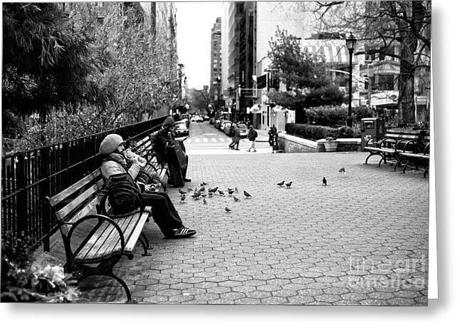 Union Square Park Days Greeting Card by John Rizzuto