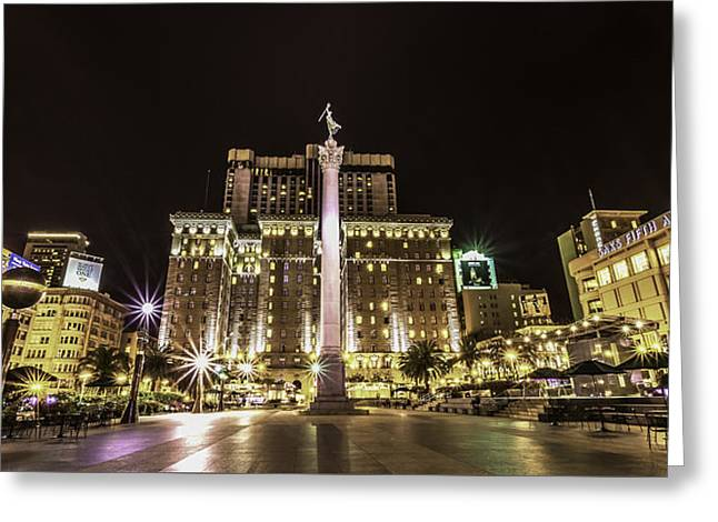 Union Square Greeting Card by Phil Fitzgerald