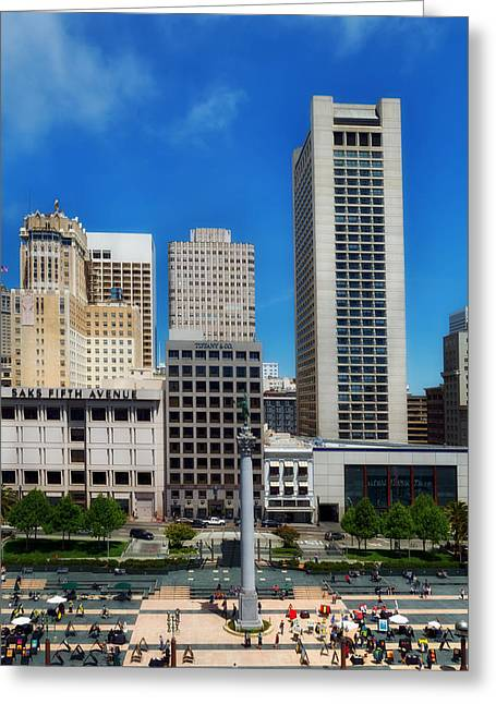 Union Square San Francisco Greeting Card by Mountain Dreams