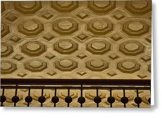 Beige Abstract Greeting Cards - Union Station Ceiling #2 Greeting Card by Stuart Litoff