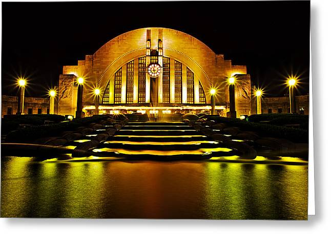 Union Terminal Greeting Card by Keith Allen