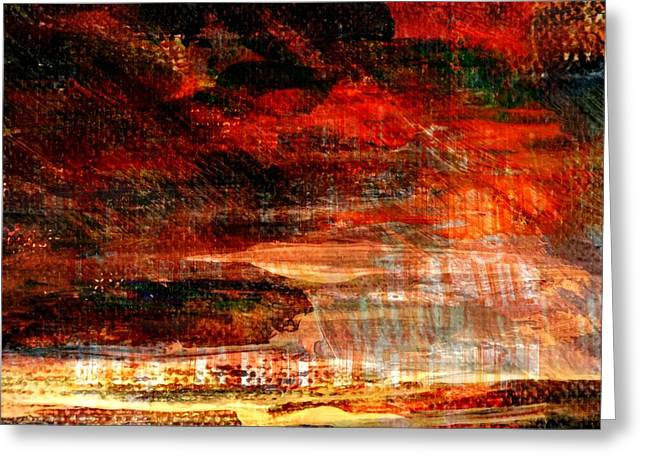 Abstract Digital Mixed Media Greeting Cards - Unique Moments... Greeting Card by Art Di