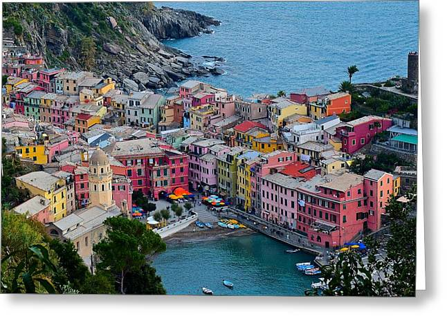 Unique Vernazza View Greeting Card by Frozen in Time Fine Art Photography