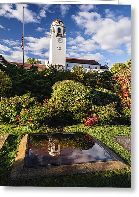 Historical Images Greeting Cards - Unique view of Boise Depot in Boise Idaho Greeting Card by Vishwanath Bhat