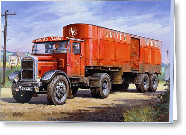 United Dairies Scammell. Greeting Card by Mike  Jeffries