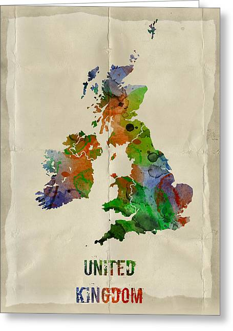 Pater Greeting Cards - United Kingdom Greeting Card by Mihaela Pater
