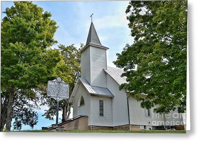Civil Greeting Cards - United Methodist Church at Forest Hill Greeting Card by Kerri Farley